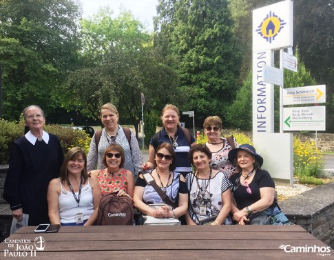 Caminheiras no Santuário de Schoenstatt, Vallendar, Alemanha