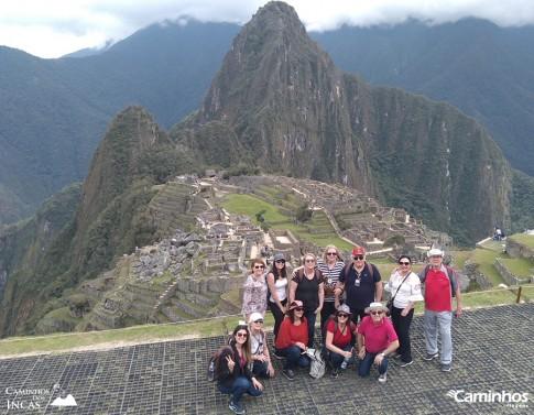 Família Caminhos em Machu Picchu, Peru