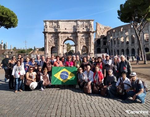 Família Caminhos no Arco de Constantino, Roma, Itália