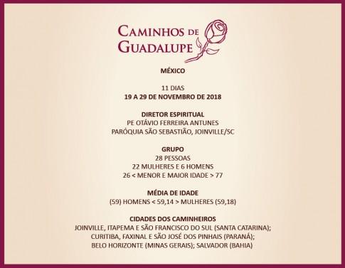8º CAMINHOS DE GUADALUPE, 98ª VIAGEM DA CAMINHOS, 11ª DE 2018