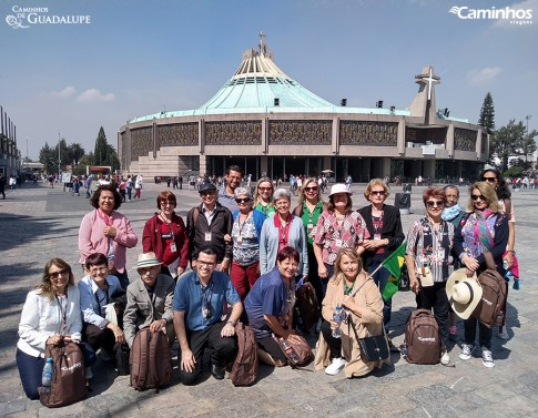 Família Caminhos no Santuário de Guadalupe, Cidade do México