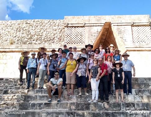 Família Caminhos em Uxmal, México