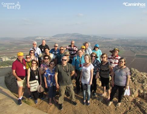 Família Caminhos no Monte do Precipício, Nazaré, Israel