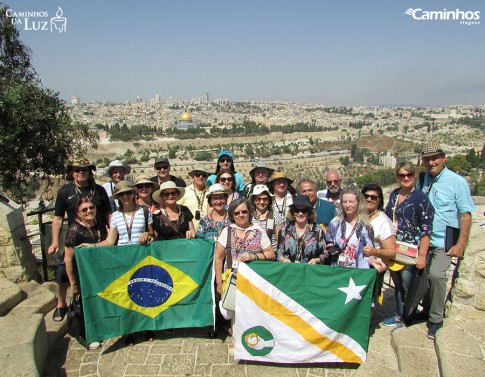 Família Caminhos no Monte das Oliveiras, Jerusalém, Israel