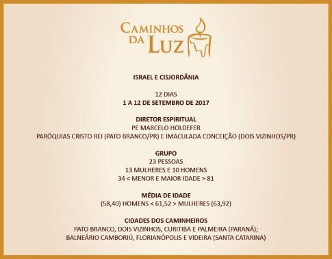28º CAMINHOS DA LUZ, 83ª VIAGEM DA CAMINHOS, 7ª DE 2017