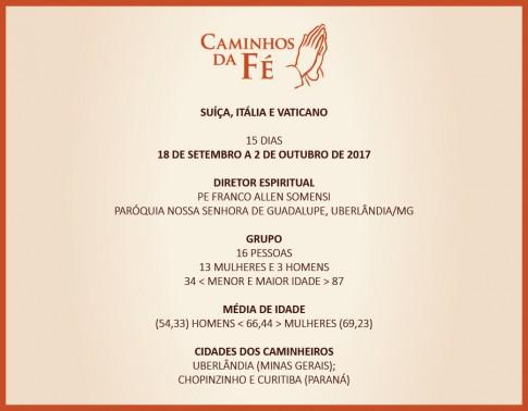 9º CAMINHOS DA FÉ, 84ª VIAGEM DA CAMINHOS, 8ª DE 2017