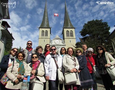 Família Caminhos em Lucerna, Suíça