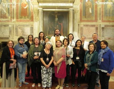 Família Caminhos na Basílica de Santo Antônio, Pádua, Itália