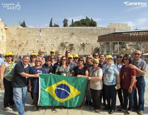 Família Caminhos no Muro das Lamentações, Jerusalém