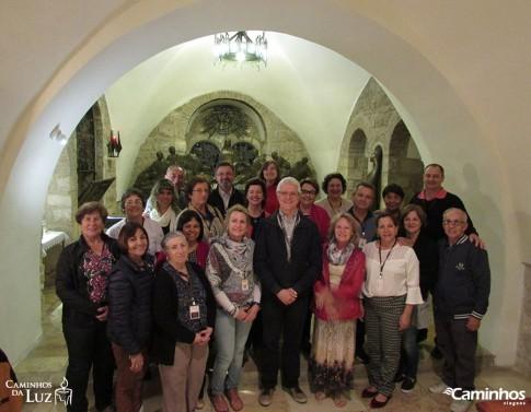 Família Caminhos na Capela do Cenáculo, Jerusalém
