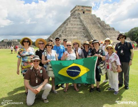 Família Caminhos em Chichén-Itzá
