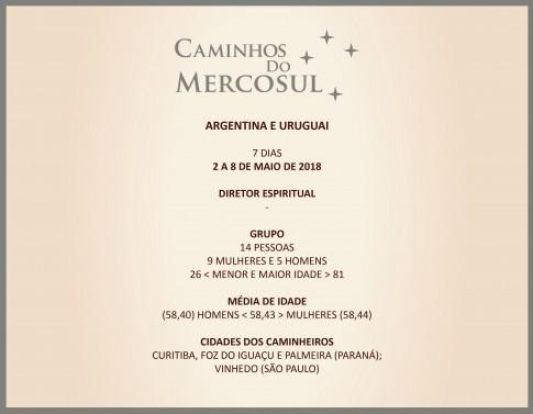 1º CAMINHOS DO MERCOSUL, 89ª VIAGEM DA CAMINHOS, 2ª DE 2018