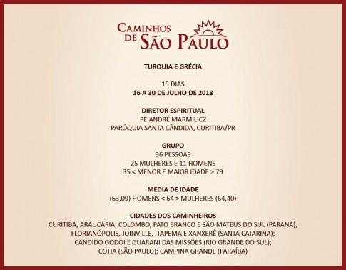 10º CAMINHOS DE SP, 92ª VIAGEM DA CAMINHOS, 5ª DE 2018